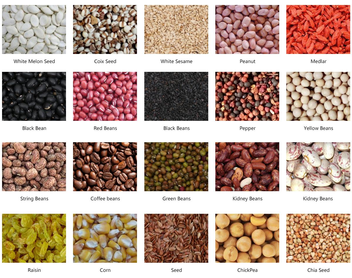 Seeds Color Sorter Sorting Samples
